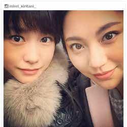 """モデルプレス - 桐谷美玲&水沢エレナ""""「Seventeen」以来""""の美女2ショットに「懐かしい」「大好き」"""