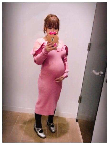妊娠7ヶ月の浜田ブリトニー/浜田ブリトニーオフィシャルブログ(Ameba)より