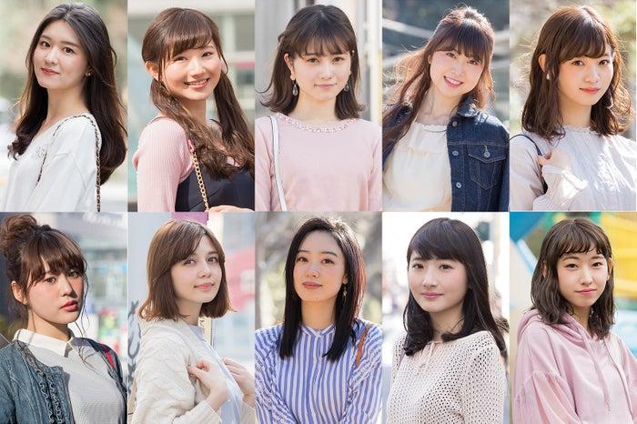(左上から)東大女子、中央女子、早稲田女子、学習院大女子、上智女子(左下から)青学女子、慶應女子、法政女子、立教女子、明大女子