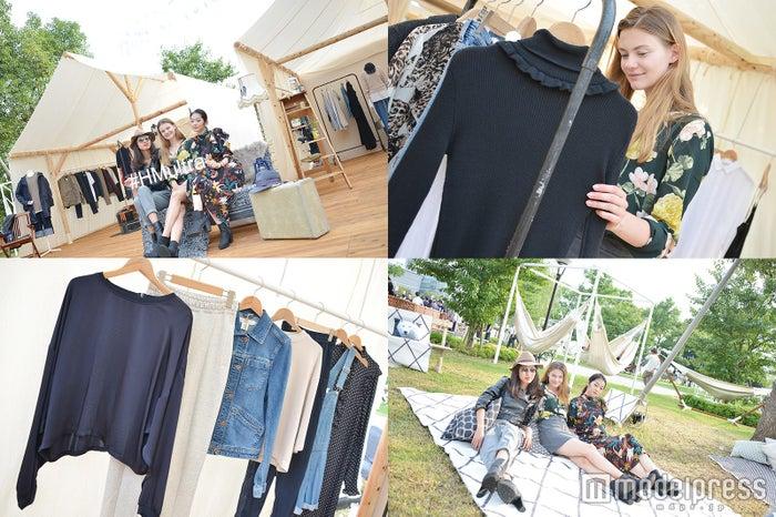 """「ULTRA JAPAN」初の""""ファッション×自然""""空間が登場 「H&M LOUNGE」にセレブリティが集結 (C)モデルプレス"""
