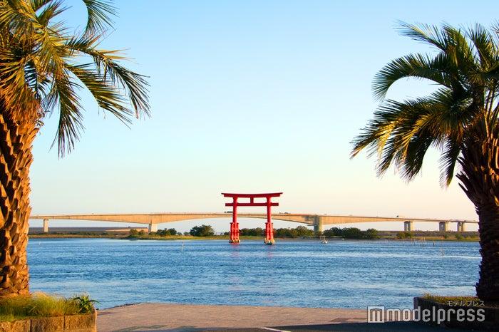 「弁天島海浜公園」の弁天島赤鳥居(C)モデルプレス