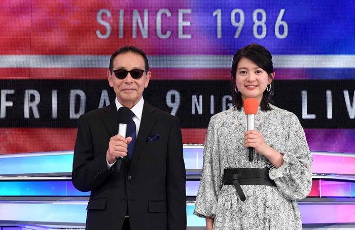 タモリ、並木万里菜アナウンサー(C)テレビ朝日