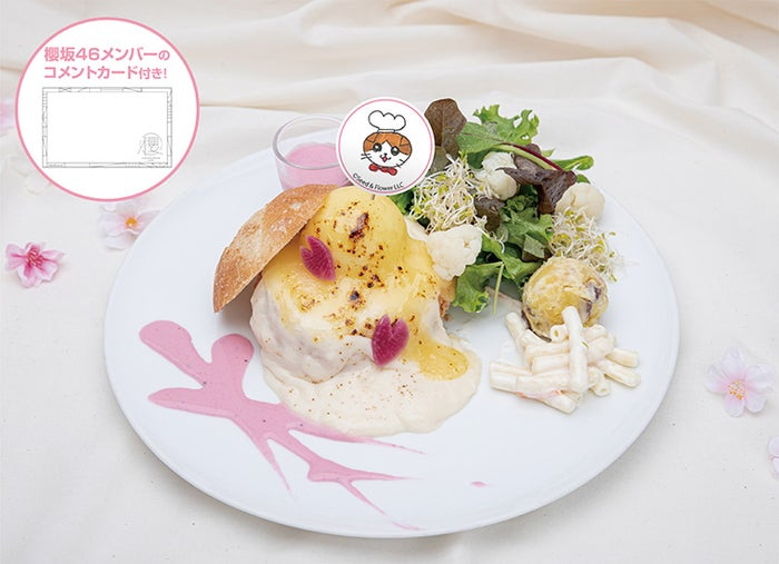 ホワイトシチューと櫻プチデリセット 1,590円(C)Seed & Flower LLC