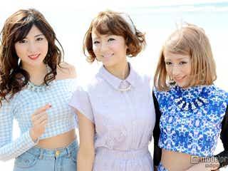 モデル岩崎名美&ねもやよ&かえぴょん、互いの素顔を暴露 モデルプレスインタビュー