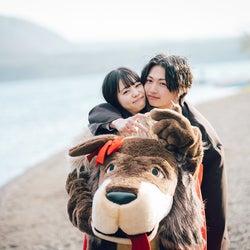 吉田伶香、綱啓永「恋とオオカミには騙されない」(C)AbemaTV, Inc.