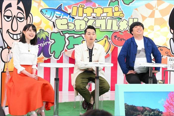 (左から)生田絵梨花、設楽統、日村勇紀(C)TBS