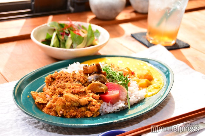 カレー2種盛り(サラダ付き)1,000円(C)モデルプレス