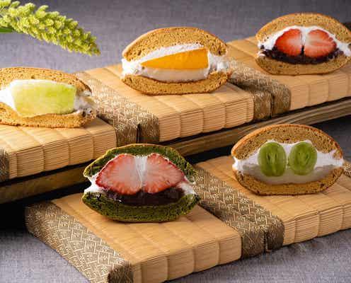和風フルーツパーラー「銀座 青果堂」最高級品フルーツで作る贅沢どら焼き
