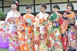 (左から)是永瞳、井頭愛海、岡田結実、小芝風花、吉本実憂 (C)モデルプレス