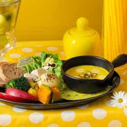 お野菜ゴロゴロ♪カボチャフォンデュ 1,590円(C)Disney