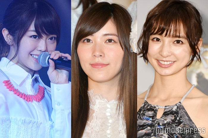 (左から)峯岸みなみ、松井珠理奈、篠田麻里子 (C)モデルプレス