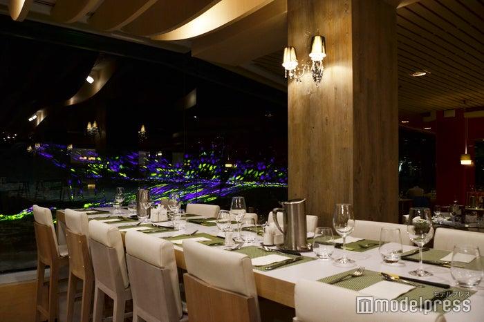 メインレストランでも食事しながらライトアップを眺められる(C)モデルプレス