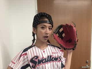 大石参月、ショーパン姿で始球式に初挑戦「まさか…」