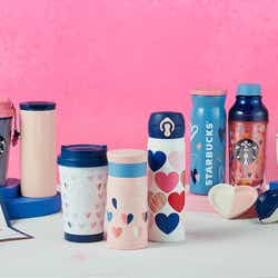 ハートをモチーフにしたバレンタイングッズ/画像提供:スターバックス コーヒー ジャパン