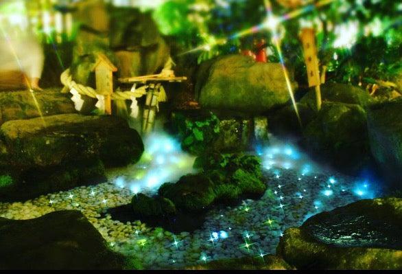 天の川のように光を放つ光る川/画像提供:川越氷川神社
