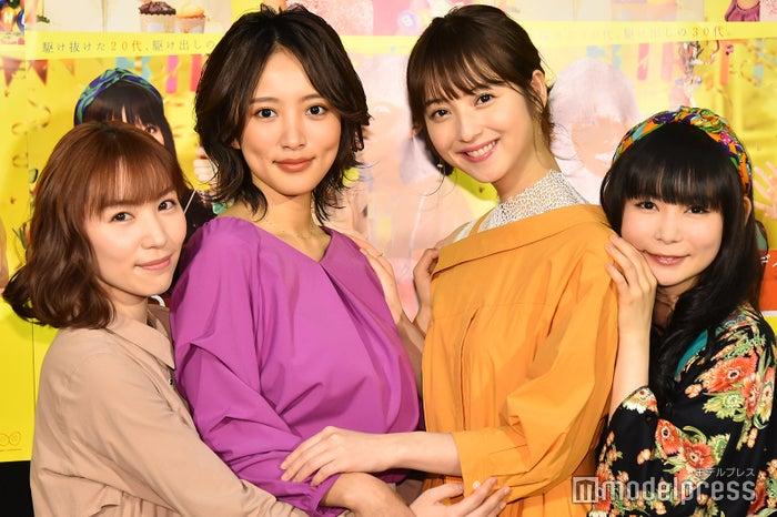 徳永えり、夏菜、佐々木希、中川翔子 (C)モデルプレス