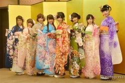 <写真特集>AKB48グループ新成人、色とりどりの振袖姿をお披露目