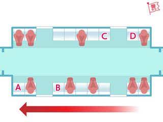 電車で座るならどの位置?あなたの「恋愛傾向」診断