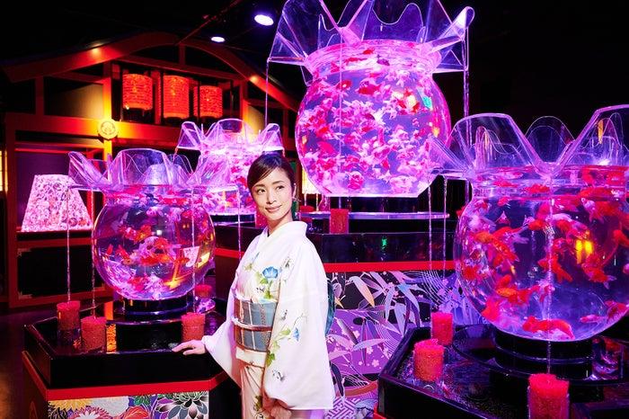 オープニング広報大使の上戸彩/画像提供:アートアクアリウム製作委員会