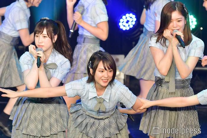永野芹佳、山田菜々美、中野郁海/AKB48チーム8「TOKYO IDOL FESTIVAL 2018」 (C)モデルプレス