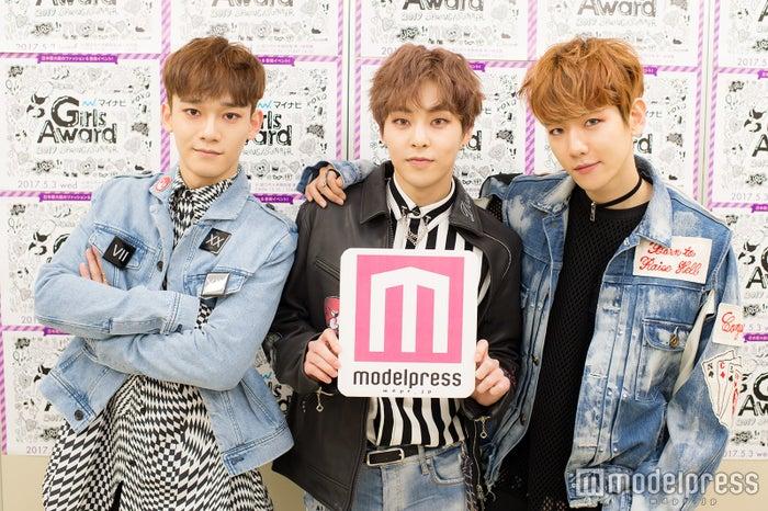 EXO-CBX(左から)チェン、シウミン、ベクヒョン (C)モデルプレス