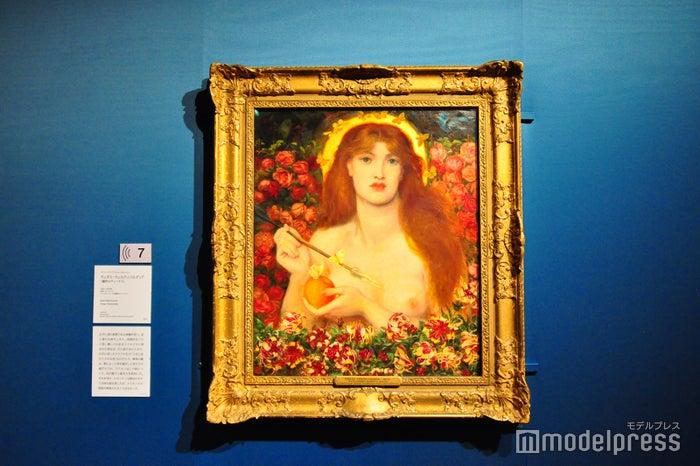 ダンテ・ゲイブリエル・ロセッティ《ウェヌス・ウェルティコルディア(魔性のヴィーナス)》1863-68年、油彩、カンヴァス ラッセル=コーツ美術館(C)モデルプレス