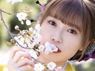 Singing Cosplayer Hikari、小田原城の桜をバックに初音ミク「夢と葉桜」を歌う!