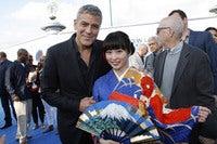 映画『トゥモローランド』ワールド・プレミアでジョージ・クルーニーと志田未来が初対面!