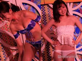 たわわバストがSEXY 美女の生着替えに共演者興奮<深夜の生脱ぎトレンド水着チェック>
