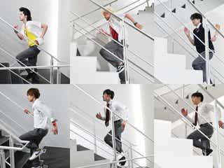 美 少年「全力坂」初登場 テレ朝の階段を駆け上がる<全力坂×真夏の少年>