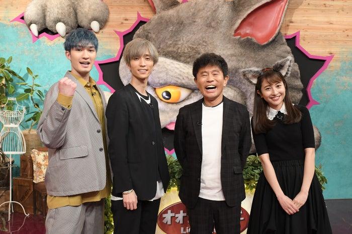 ジェシー、田中樹、浜田雅功、日比麻音子(C)TBS