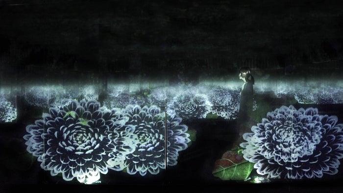積層された空間に咲く花々/画像提供:チームラボ