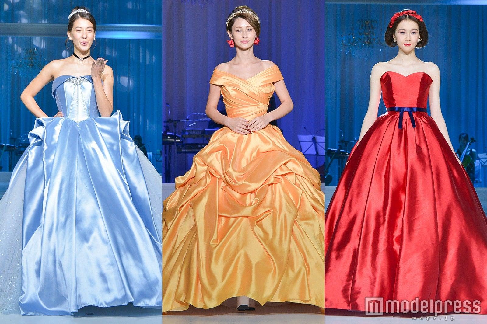 左から)シンデレラ、ベル、白雪姫 (C)モデルプレス