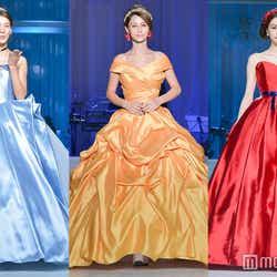 (左から)シンデレラ、ベル、白雪姫 (C)モデルプレス