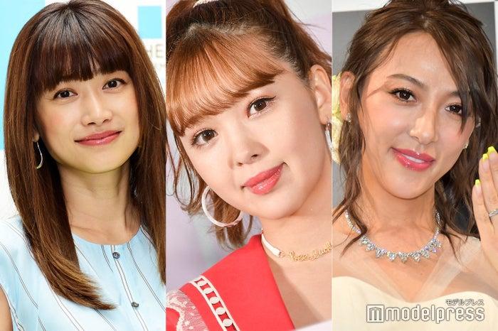 (左から)ヨンア、藤田ニコル、GENKING (C)モデルプレス