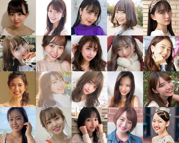 「MISS OF MISS CAMPUS QUEEN CONTEST 2020」ファイナリスト(提供写真)