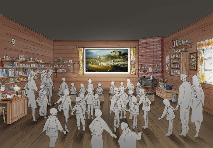 夏の家を模した「トーベの記憶シアター」(C)Moomin Characters TM