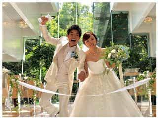 吉木りさ&和田正人、結婚披露宴を報告 ドレス・タキシード姿で感謝
