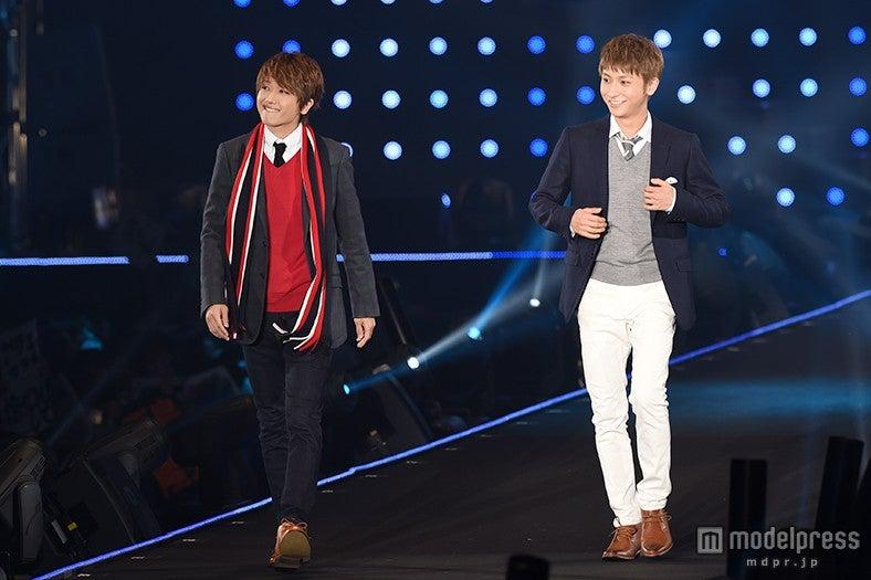 「第21回 東京ガールズコレクション2015 AUTUMN/WINTER」に出演した西島隆弘(左)&與真司郎【モデルプレス】