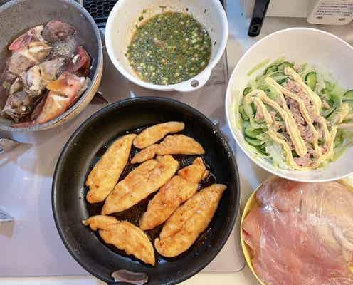 辻希美、夫・杉浦太陽が釣った魚で料理「夕飯にしまーす」