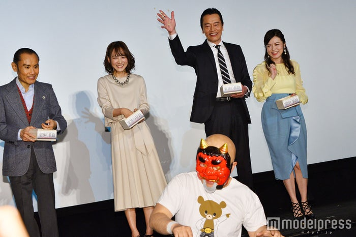 片岡鶴太郎、谷村美月、神奈月、遠藤憲一、横山めぐみ(C)モデルプレス