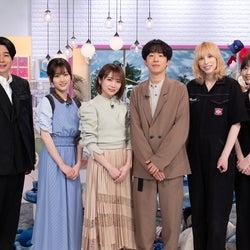 吉村崇、山下美月、秋元真夏、DJ松永、Rachel、Mamiko(C)テレビ朝日