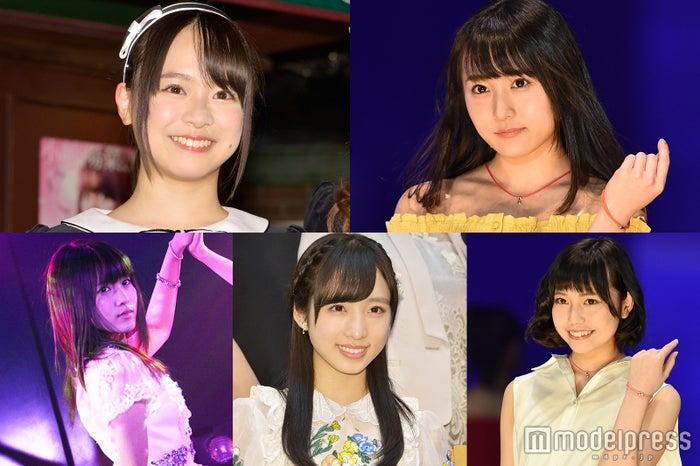 (上段左から)倉野尾成美、坂口渚沙(下段左から)岡部麟、小栗有以、長久玲奈 /チーム8(C)モデルプレス