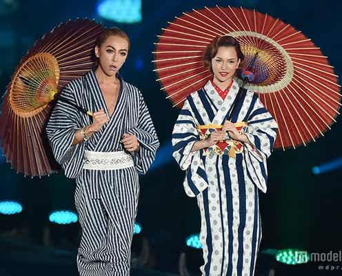 GENKING&水沢アリー、しっとり着物の2ショット 観客1万1800人を魅了<TGC北九州2015>