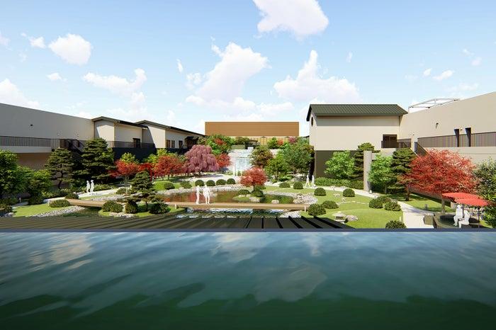 庭見風呂からの天空庭園/画像提供:大阪ベイタワー合同会社