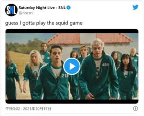 「イカゲーム」再現!ラミ・マレックが緑ジャージ姿でパロディー