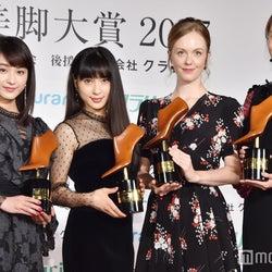 (左から)平祐奈、土屋太鳳、シャーロット・ケイト・フォックス、観月ありさ (C)モデルプレス