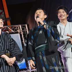 (左から)林遣都、吉田鋼太郎、田中圭 (C)モデルプレス