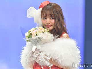 ちぃぽぽ、赤ドレス姿が可愛すぎる!スラリ美脚も披露<神コレ2017A/W>