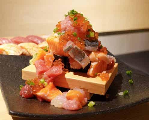 名物・こぼれ寿司は必食♡ 大阪に「ネオ寿司酒場」がオープン